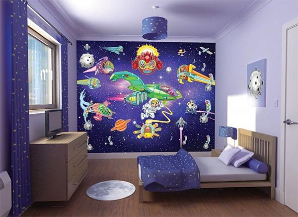 Обои в детскую комнату (35 фото): узоры и цвета для мальчиков и девочек